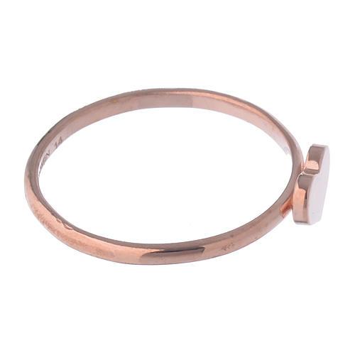 Anillo AMEN Corazón clásico plata 925 acabado rosado 3