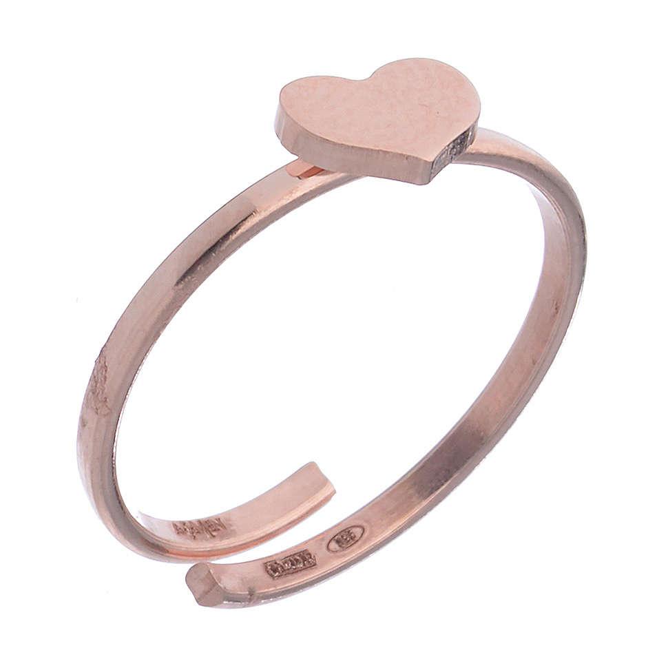Anillo AMEN Corazón plata 925 acabado rosado 3