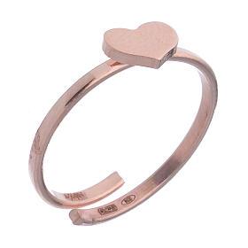 Anillo AMEN Corazón plata 925 acabado rosado s1