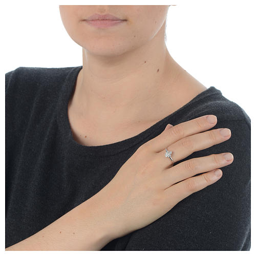 AMEN Ring Angel silver 925, Rhodium finish 3