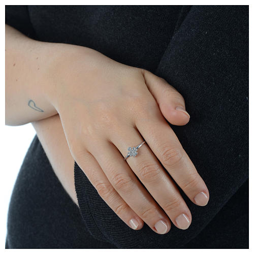 AMEN Ring Angel silver 925, Rhodium finish 4