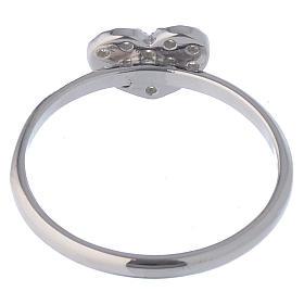 AMEN Ring Heart silver 925, Rhodium finish s4