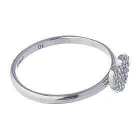 AMEN Ring Heart silver 925, Rhodium finish s3