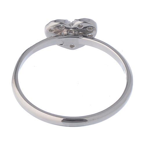 AMEN Ring Heart silver 925, Rhodium finish 4