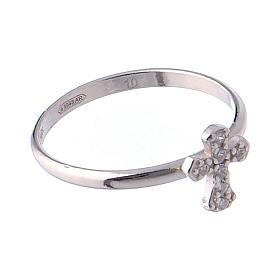 AMEN Ring Small Cross silver 925, Rhodium finish s4