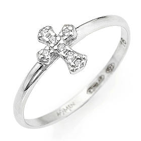 Anillo AMEN Cruz Plata 925 rodio s1