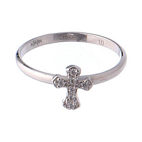 Anillo AMEN Cruz Plata 925 rodio s2