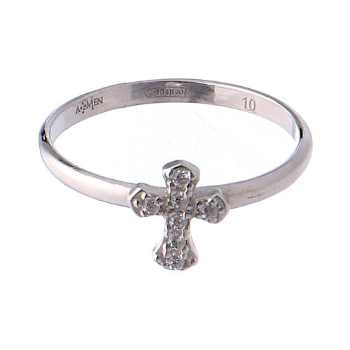 Anillo AMEN Cruz Plata 925 rodio 2