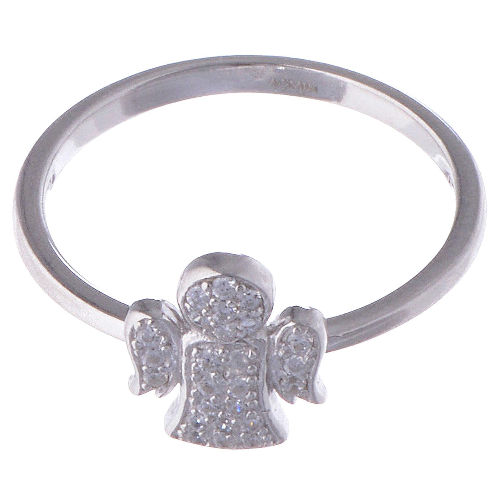 Anello AMEN Angelo argento 925 zirconi fin. Rodio 3