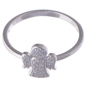 Anello AMEN Angelo argento 925 zirconi fin. Rodio s2