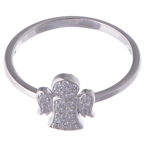 Anello AMEN Angelo argento 925 zirconi fin. Rodio 2