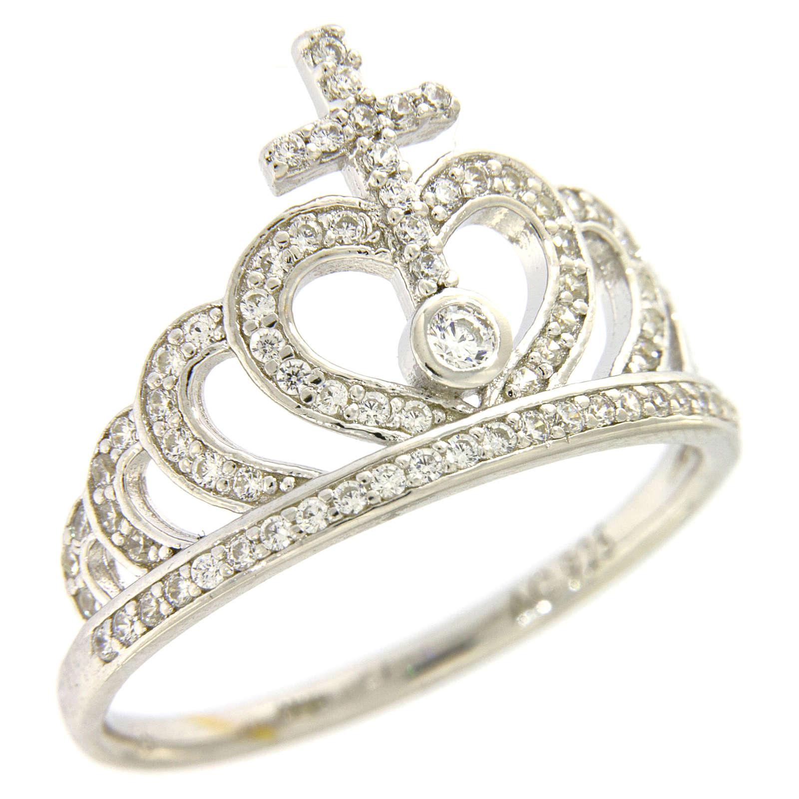 Ring AMEN Queen Crown silver 925 rhinestones 3