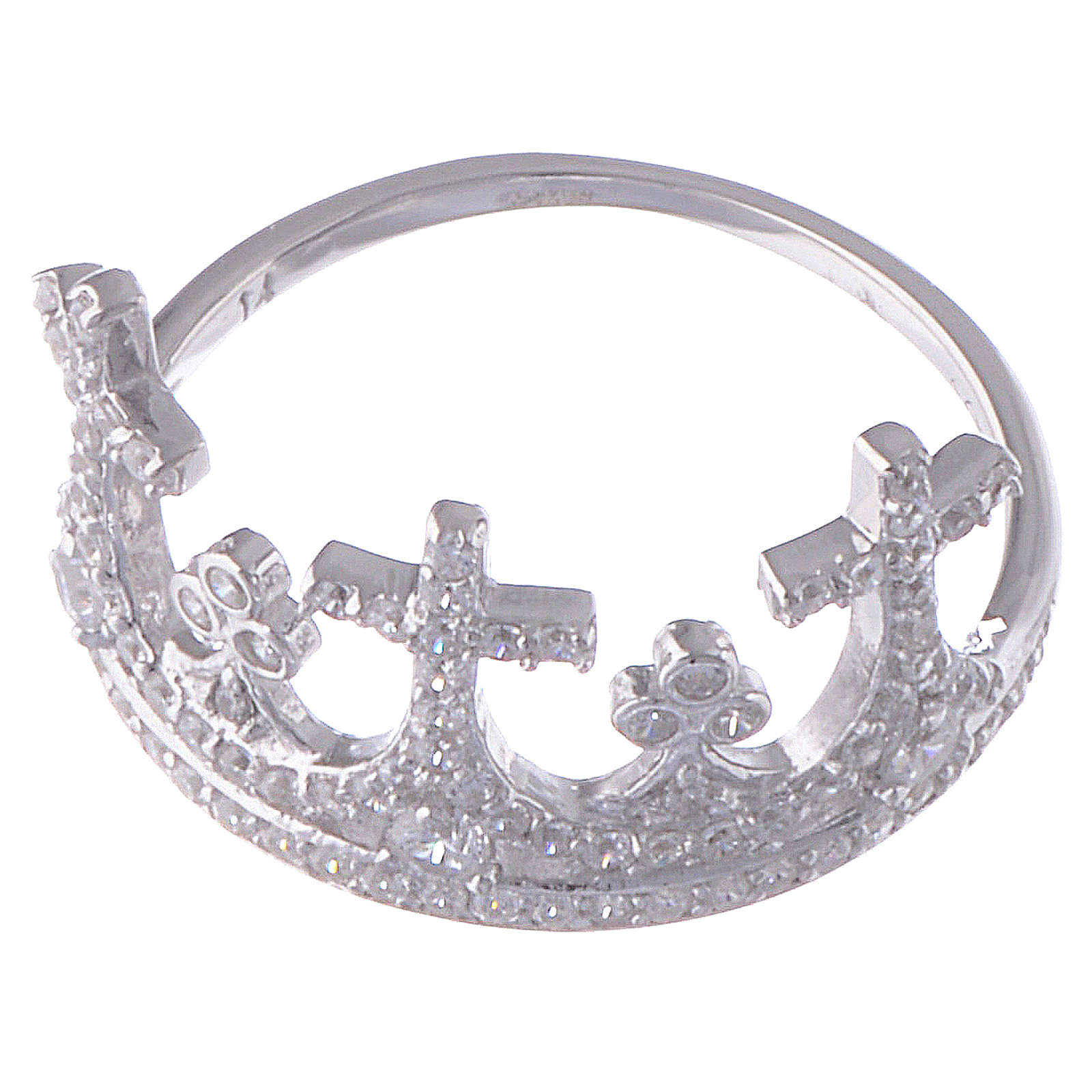 Anillo AMEN Corona plata 925 circones 3
