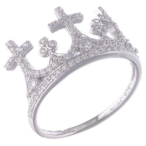 Anillo AMEN Corona plata 925 circones 1