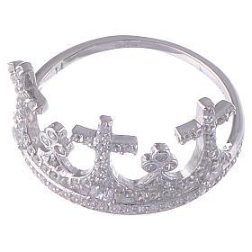 Anello AMEN Coroncina argento 925 zirconi s2