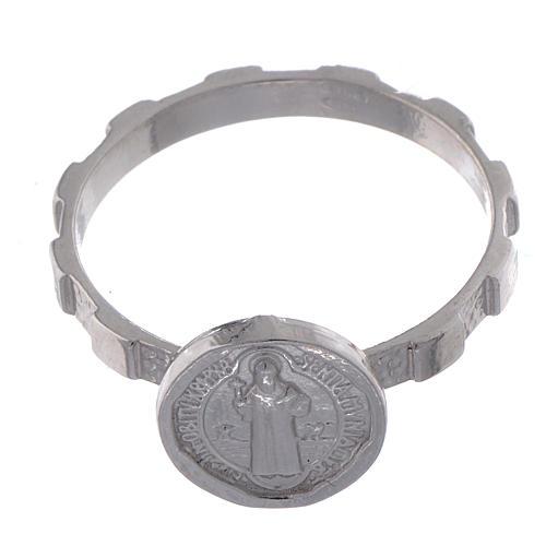 Zehner Ring Silber 925 Hl. Benedikt 2