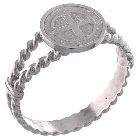 Bague Saint Benoît tressage argent 925 s1