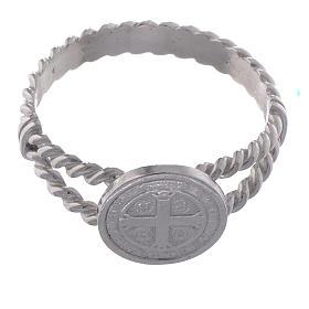 Anello San Benedetto intreccio argento 800 s2
