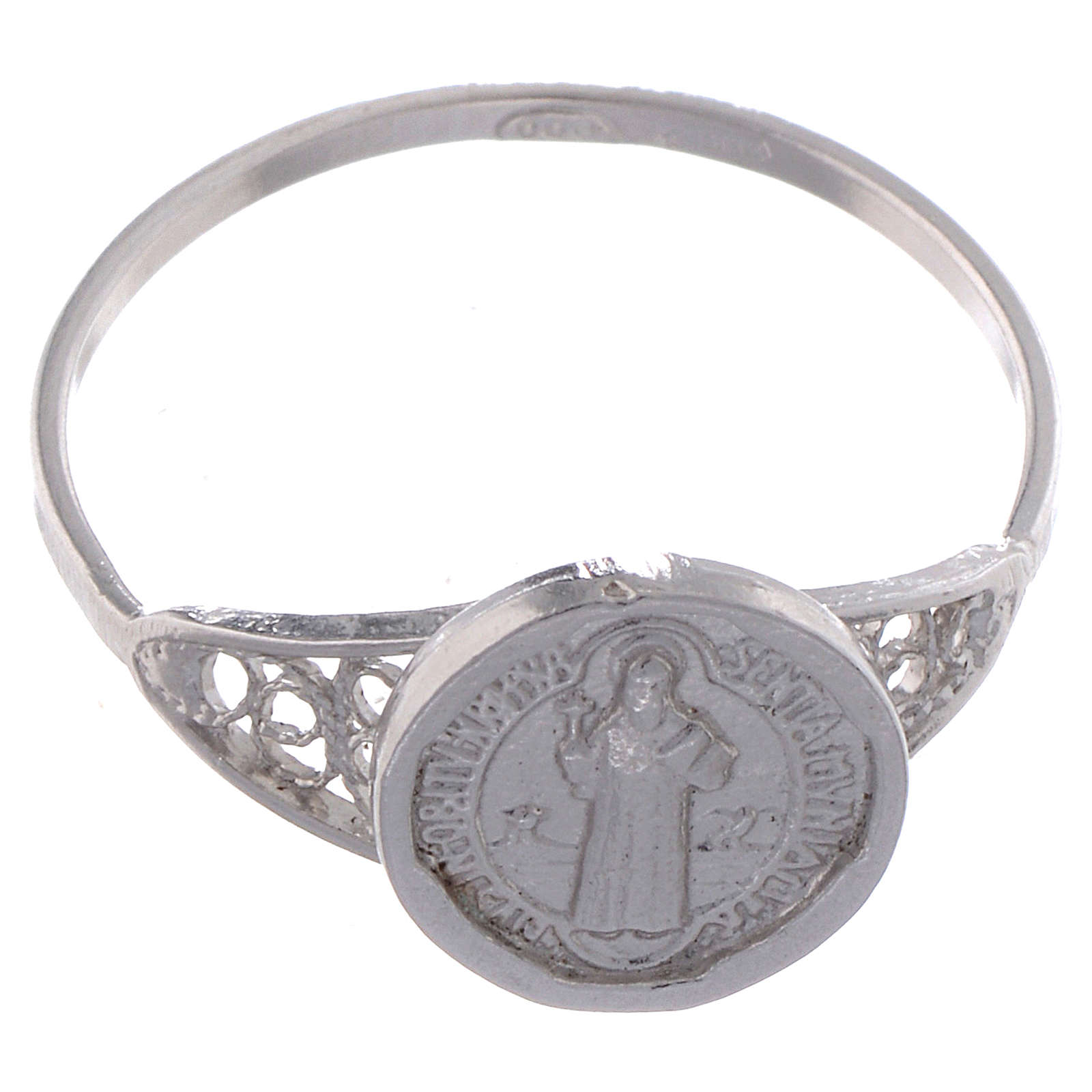 Bague Saint Benoît fine argent 800 3