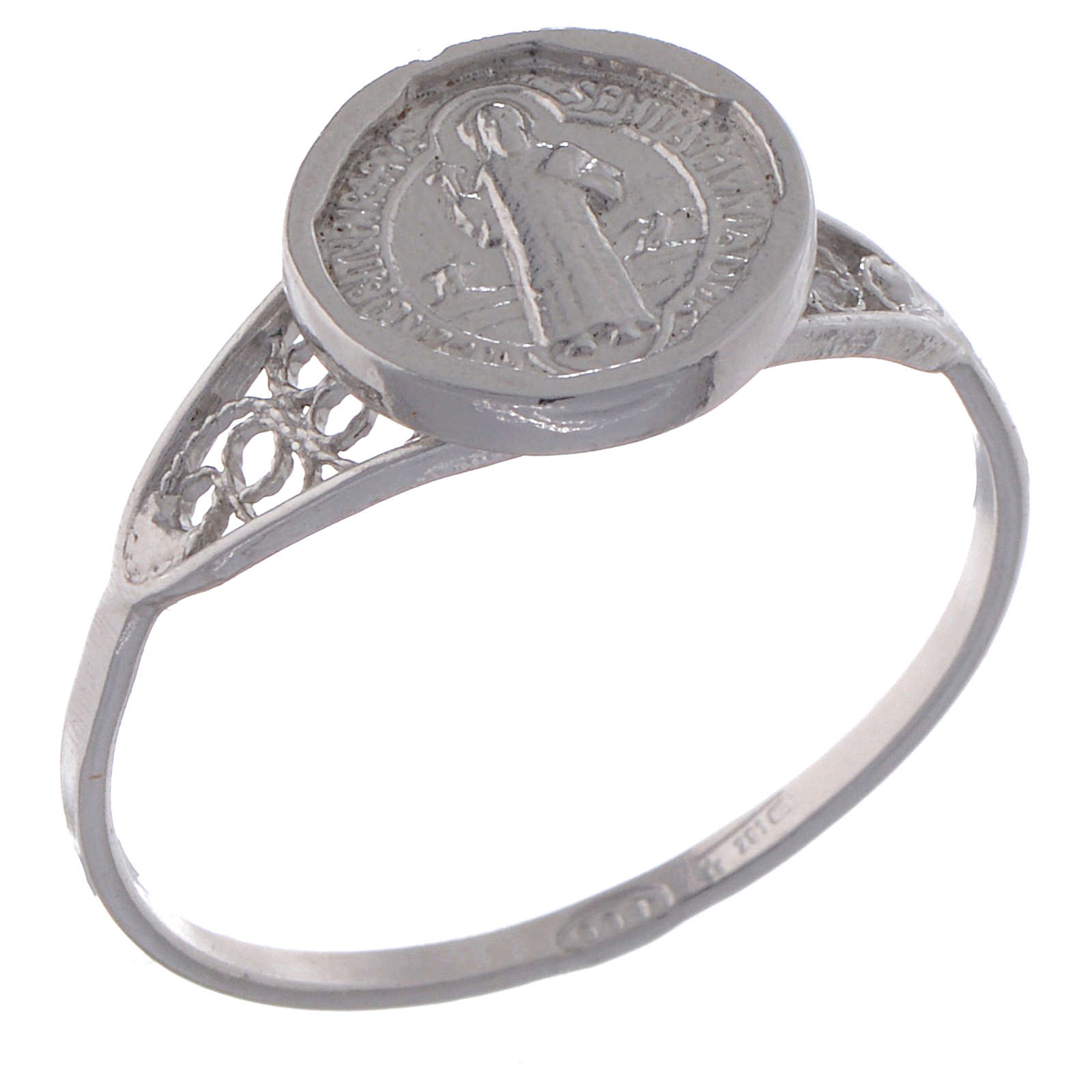 Saint Benedict ring in 800 silver 3
