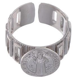 Bague dizianier large Saint Benoît argent 925 s2