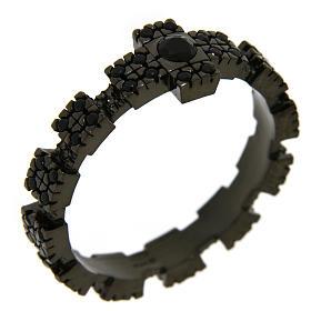Anello argento 925 nero con zirconi neri s1