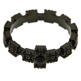 Anello argento 925 nero con zirconi neri s2