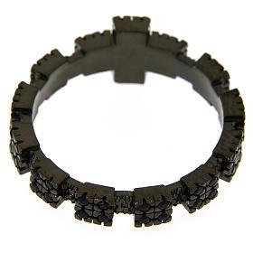 Anello argento 925 nero con zirconi neri s3