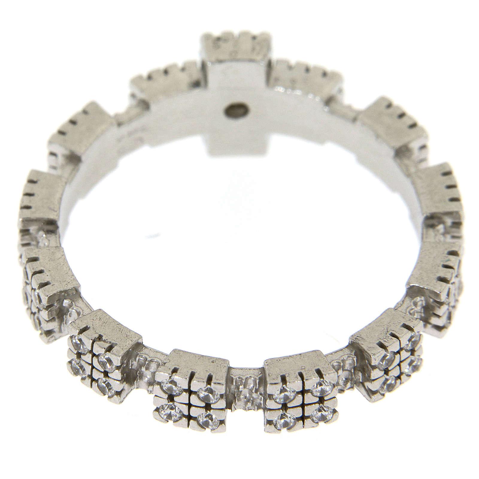 Anello in Argento 925 con zirconi trasparenti 3