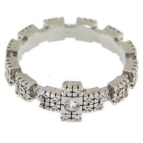 Anello in Argento 925 con zirconi trasparenti s2