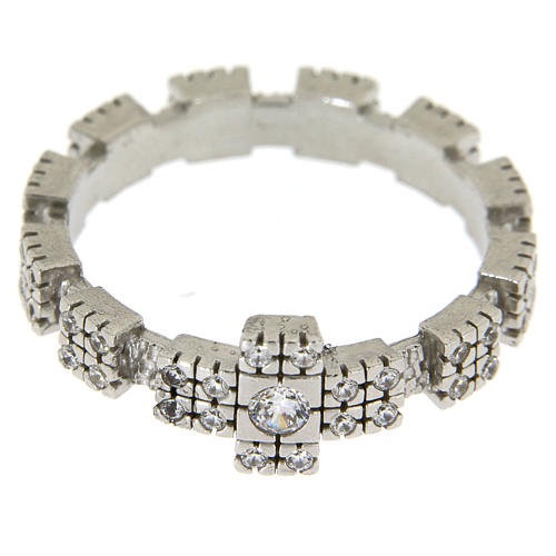 Anello in Argento 925 con zirconi trasparenti 2