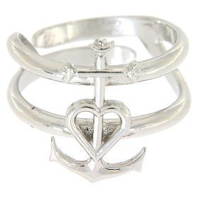 Pierścionek regulowany ze srebra 925 Wiara Nadzieja Miłość s2