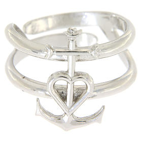 Ring in sterling silver Faith, Hope and Charity s2