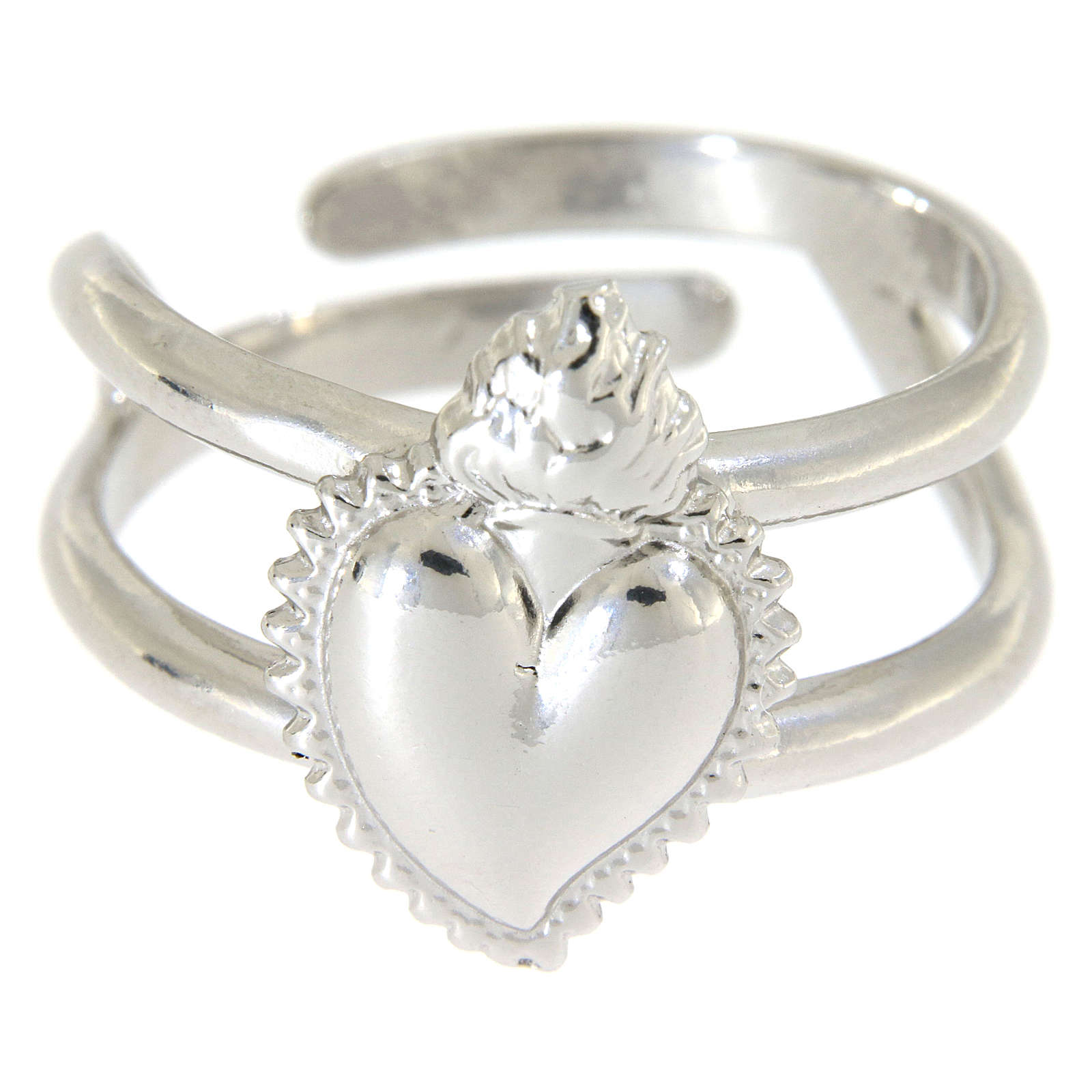 Ring in sterling silver Votive Heart 3