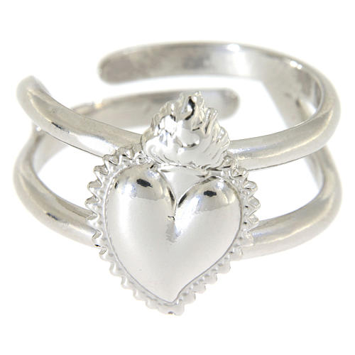 Ring in sterling silver Votive Heart 2