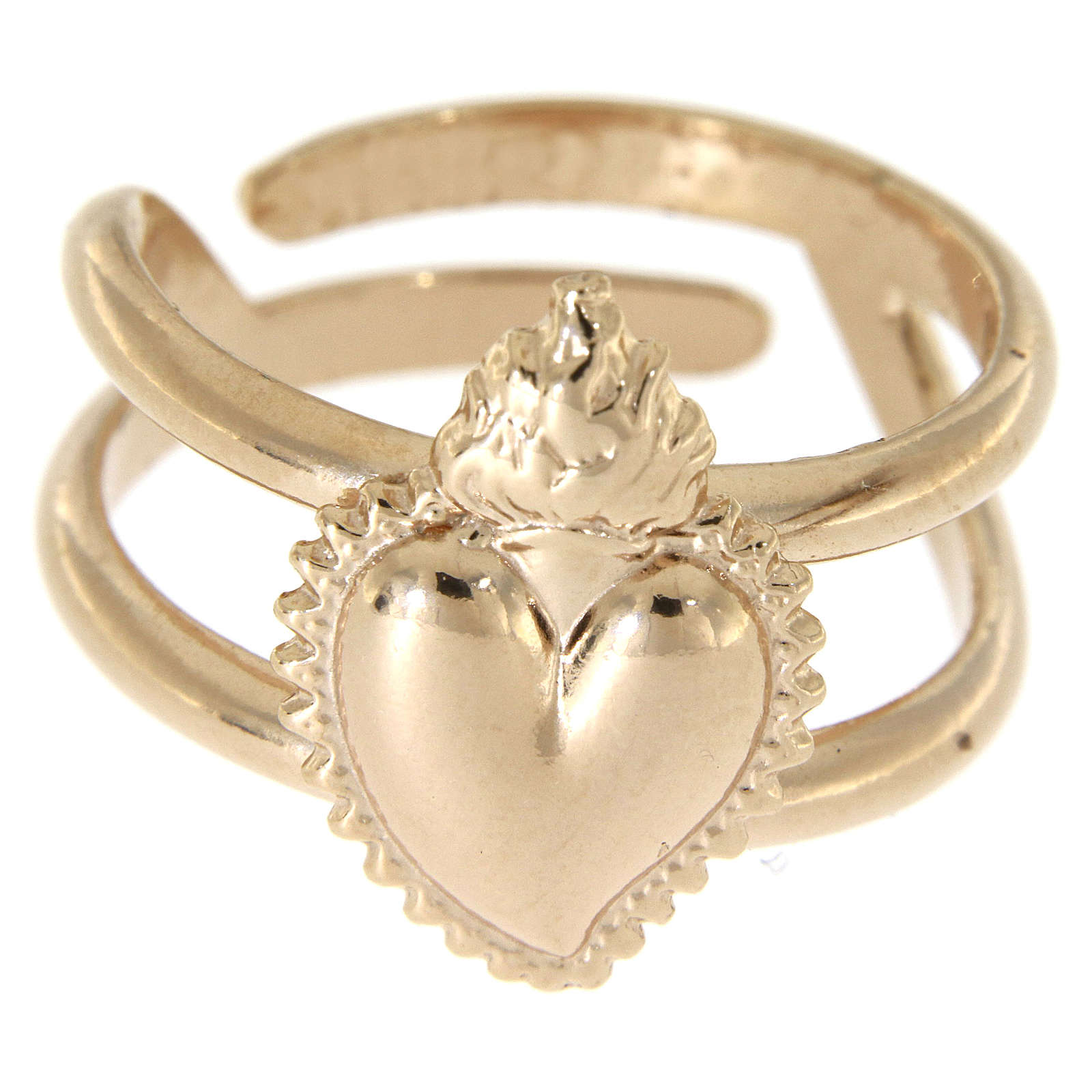 Ring in sterling silver Votive Heart, golden, rose-coloured 3