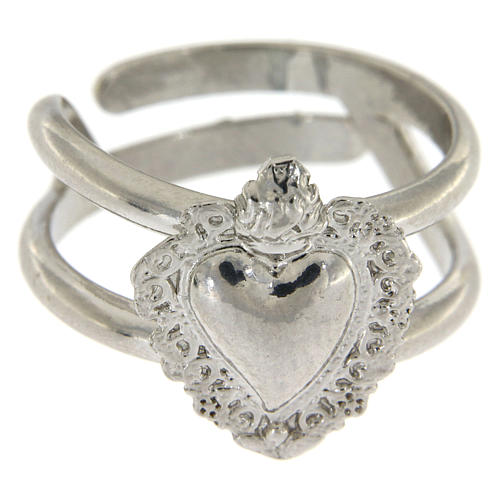 Ring in 925 silver with Votive Heart 2