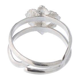 Anello regolabile in argento 925 con cuore votivo vuoto s5