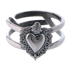 Silver ring with Votive Heart s2