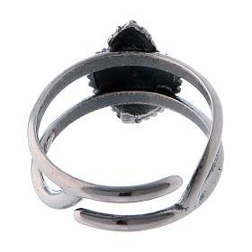 Anello regolabile cuore votivo vuoto in argento 925 s3