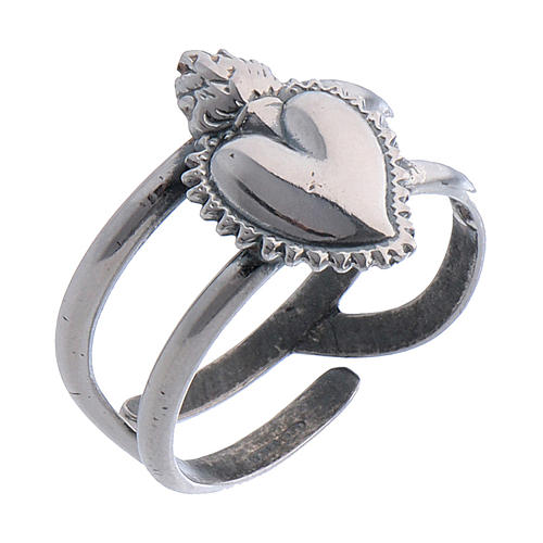 Votive Heart ring in sterling silver 1
