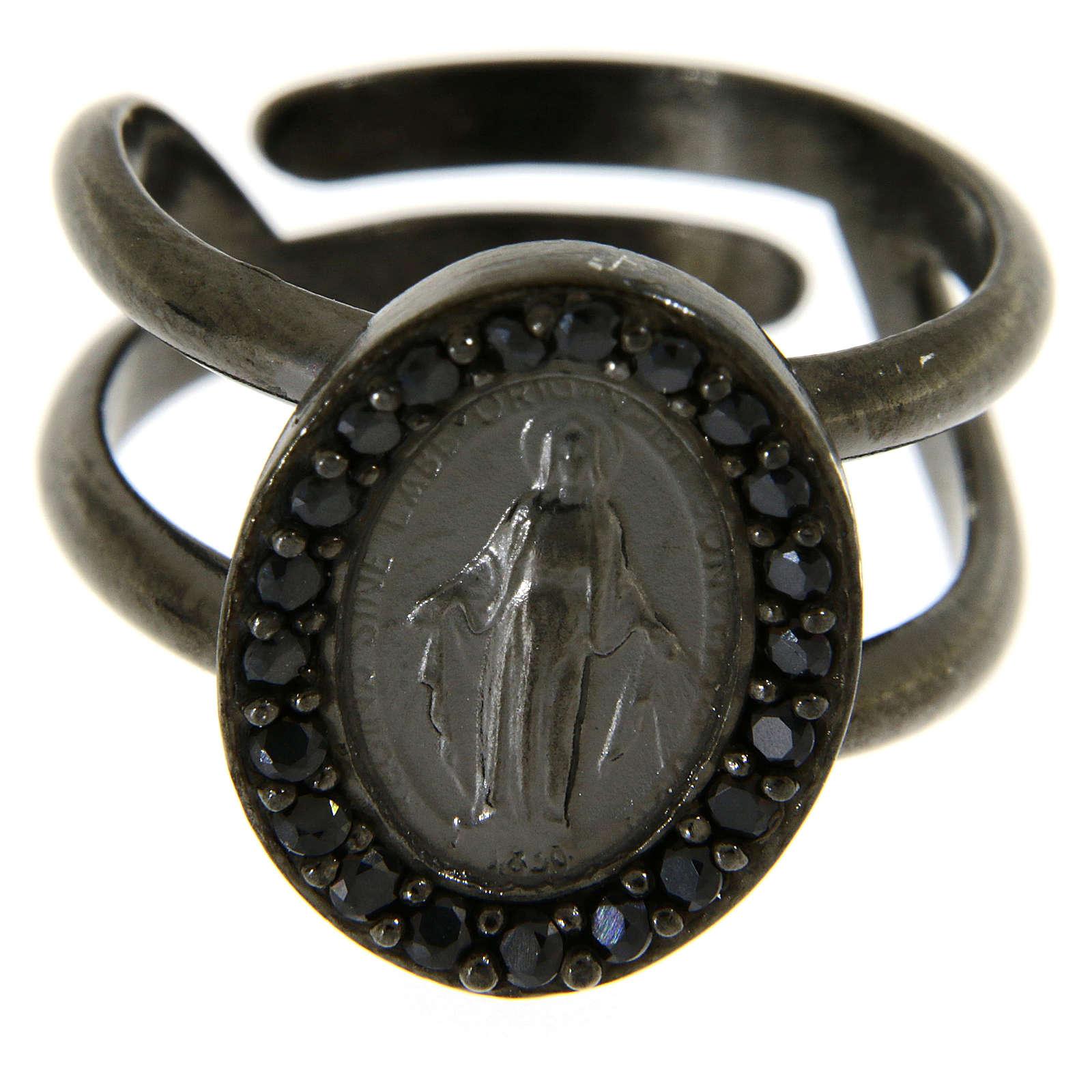 Anello in argento 925 con medaglia miracolosa 3