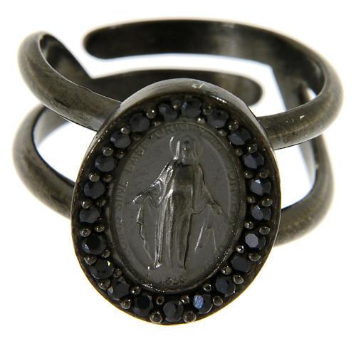 Anello in argento 925 con medaglia miracolosa 2