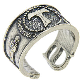 Ring in sterling silver Saint Francis s1