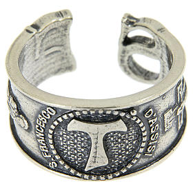 Ring in sterling silver Saint Francis s2