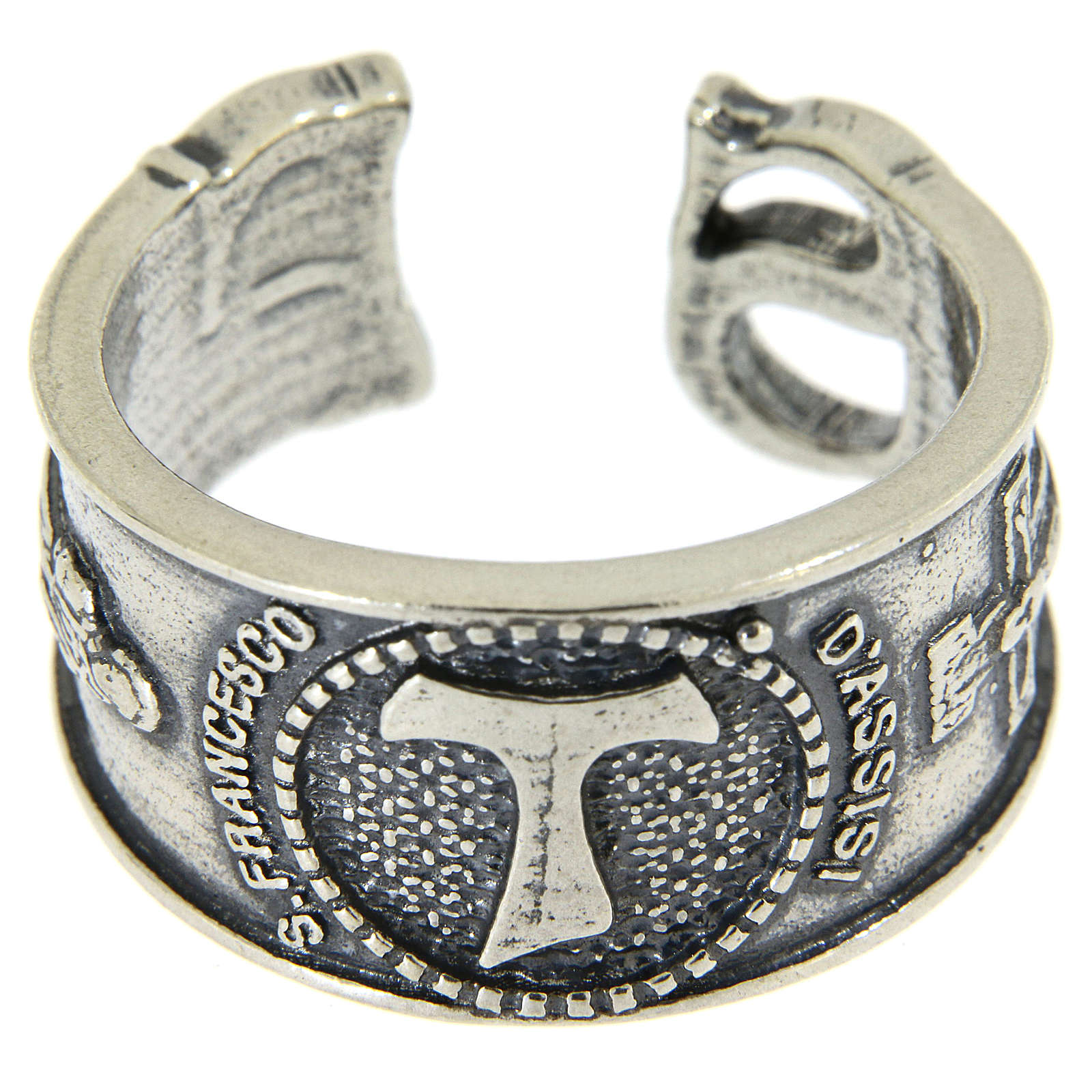 Ring in sterling silver Saint Francis 3