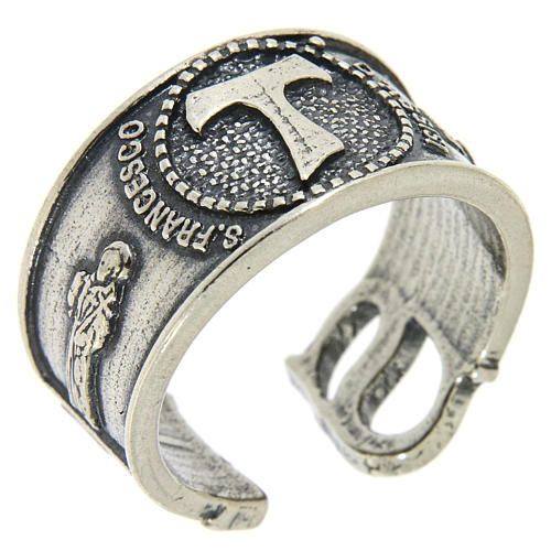 Ring in sterling silver Saint Francis 1