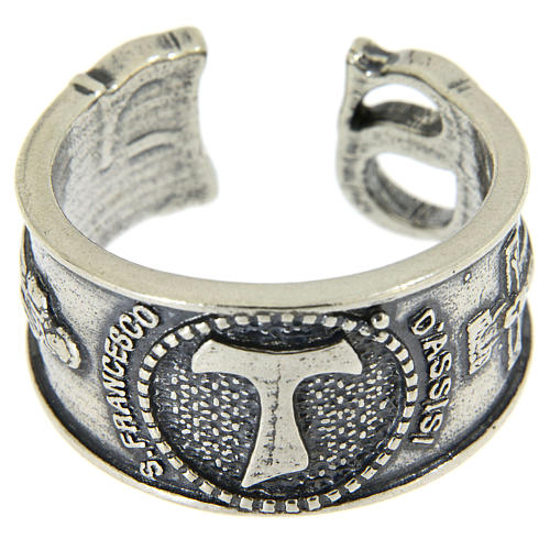 Ring in sterling silver Saint Francis 2