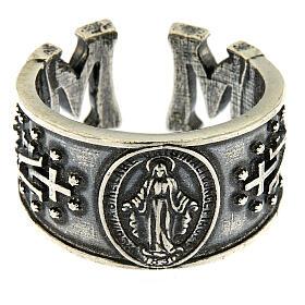 Anillo Virgen Medalla Milagrosa plata 925 s2