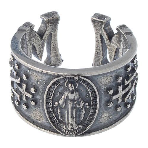 Anello Madonna Miracolosa in argento 925 2